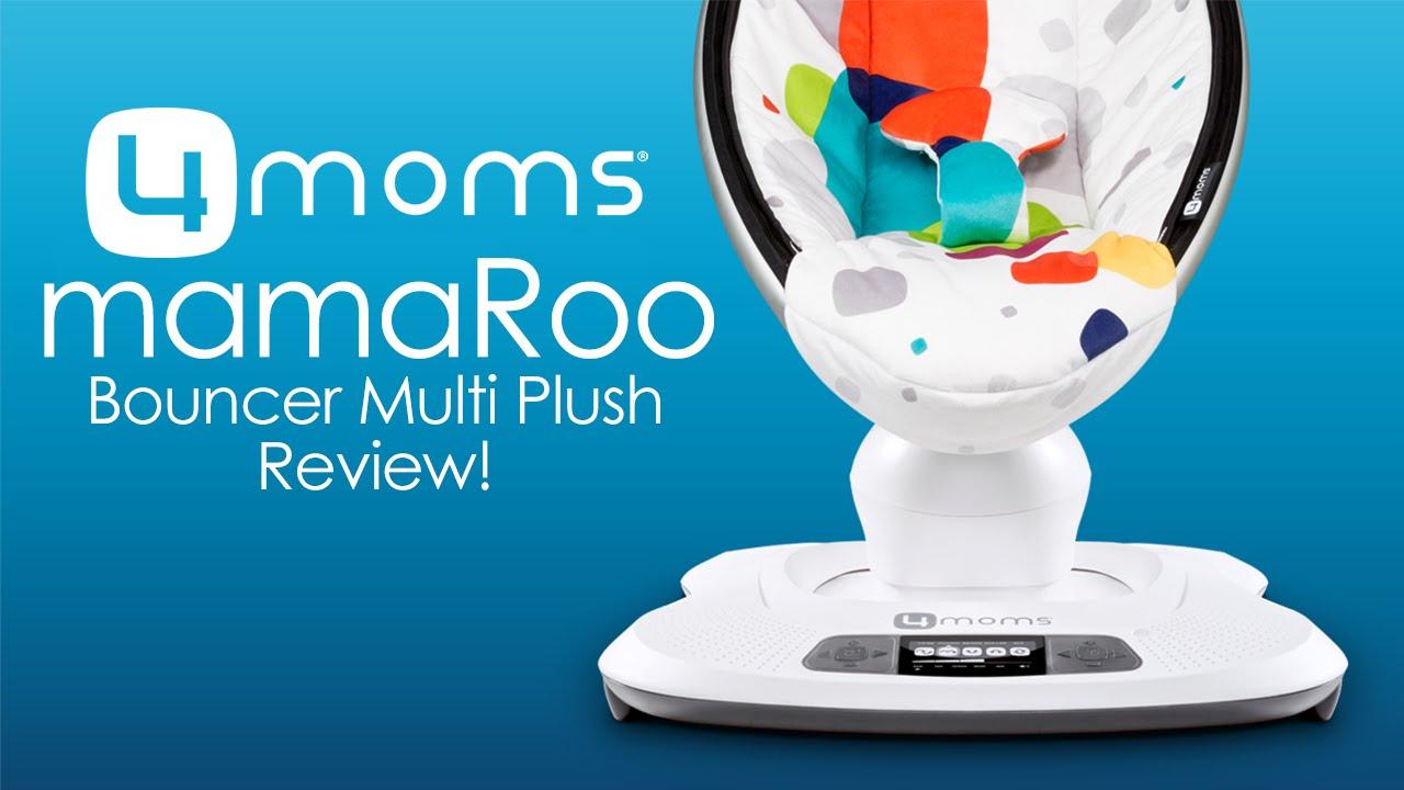4moms mamaRoo Bouncer Multi Plush Review & Demo! (2016)