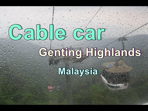 Cable car in Genting highlands | Vitamin travel in Malaysia