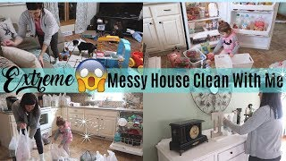 EXTREME CLEAN WITH ME | SO MUCH CLEANING MOTIVATION | ACTUAL MESSY HOUSE CLEAN WITH ME