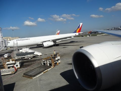 Philippine Airlines PR730 B777-300ER Manila to Bangkok Business Class HD Flight Experience