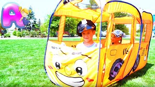 Wheels On The Bus - Nursery Rhymes song for Kids from Anna Kids