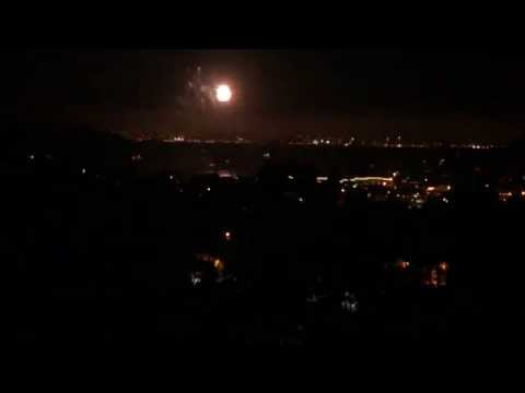 SLOW TV: Fireworks for Tiburon, CA town 50th Anniversary Celebration 2014