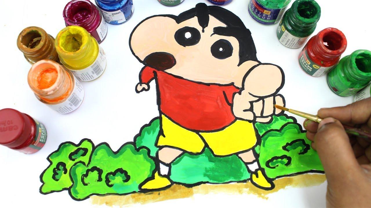 Colouring Shin Chan And Action Kamen Pages For Maainan Doraemoon Kyutt Kids