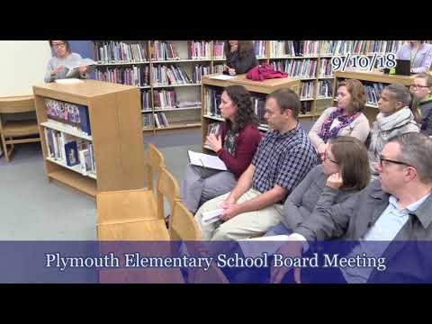 Plymouth School Board 9/10/18