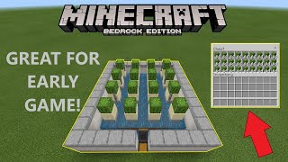 How to build an EFFICIENT and CHEAP early game AUTOMATIC cactus farm in Minecraft!