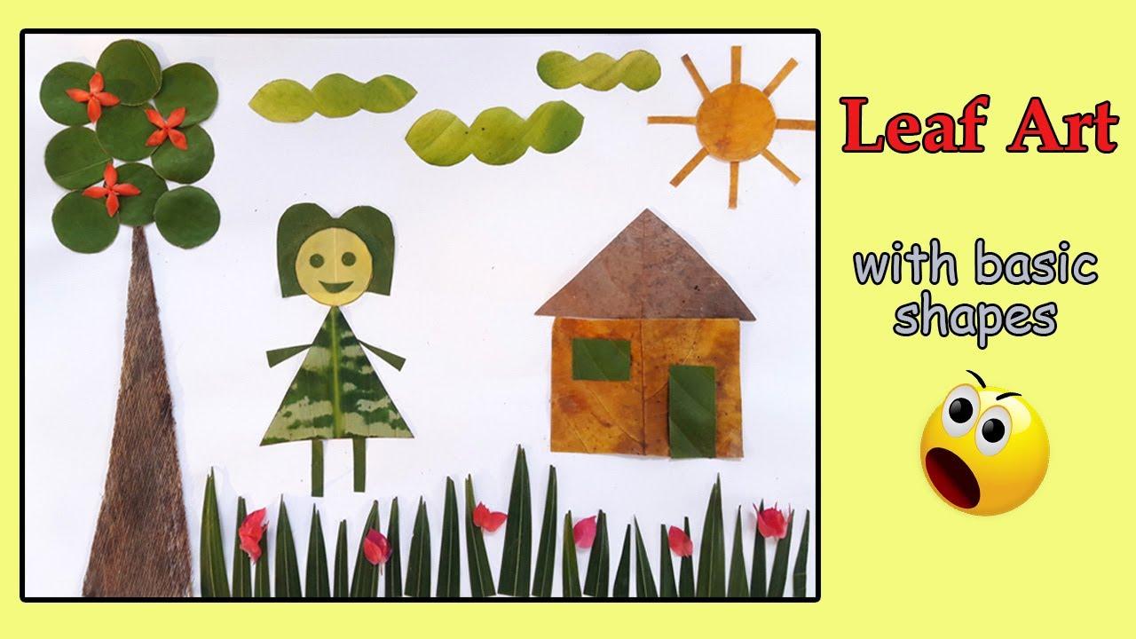 Simple Leaf Art For Kids Leaf Art Garden Youtube