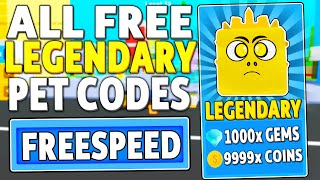 ALL NEW *FREE LEGENDARY* PET CODES in SPEED CHAMPIONS (Roblox)