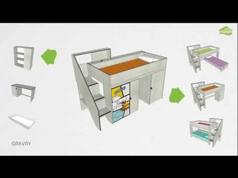 Parisot Etagenbett Team : Parisot gravity kinderzimmer youtube