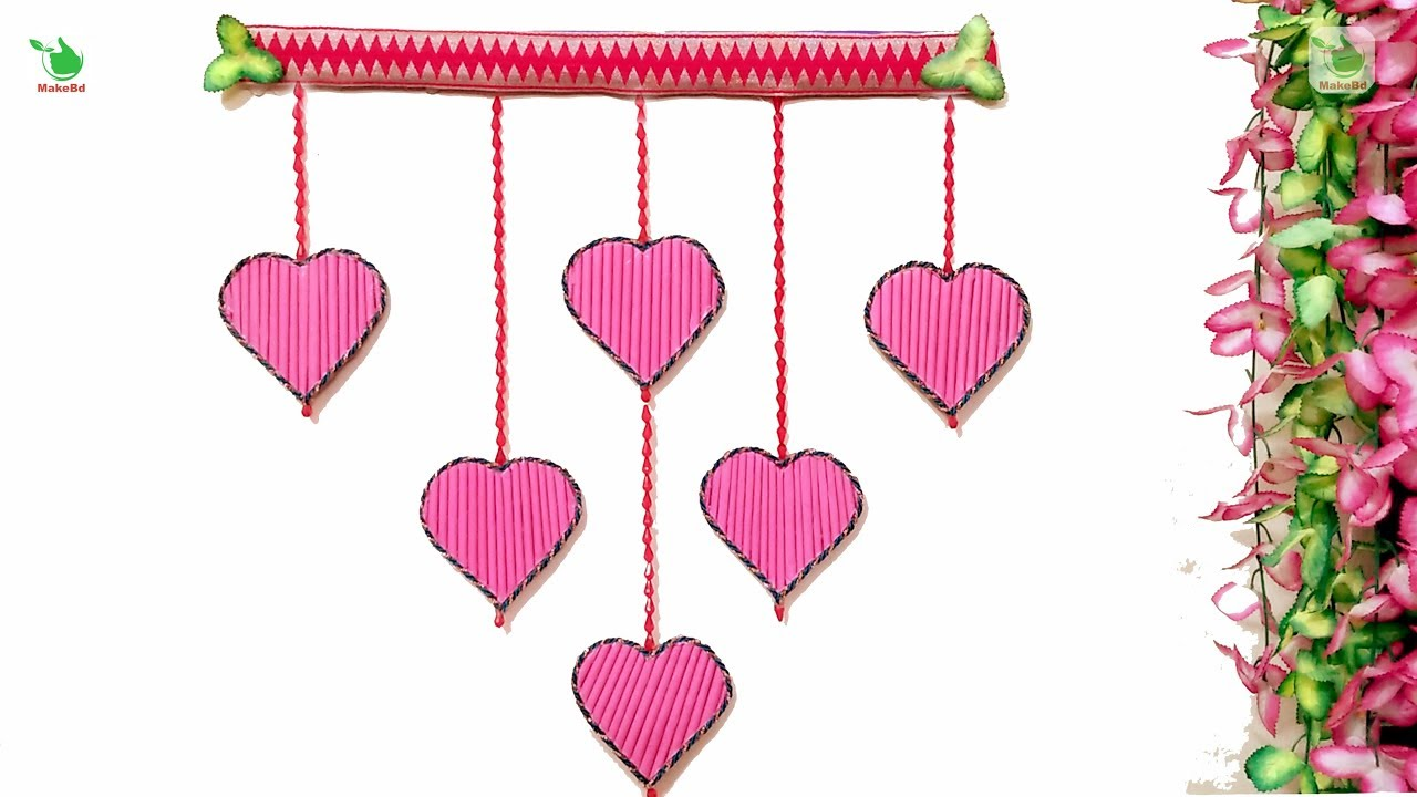 New Wall Hanging Craft Ideas With Paper Beautiful Heart Wall