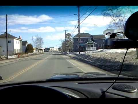Driving through Mars Hill, Maine