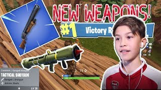 NEW WEAPONS!!! Fortnite Battle Royale Duo Gameplay!