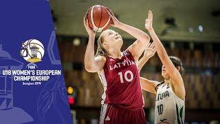 Lithuania v Latvia - Full Game - FIBA U18 Women's European Championship 2019