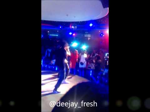 Dj Fresh Dancing To Flavour's Performance