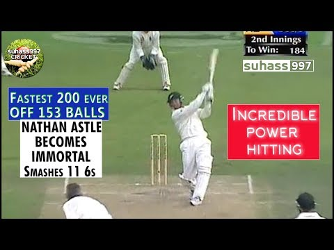 When Nathan Astle became Immortal ! 222 off 153 balls! The most incredible POWER HITTING ever seen!