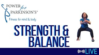 Power for Parkinson's Thursday Strength & Balance - Live Streaming Day 144