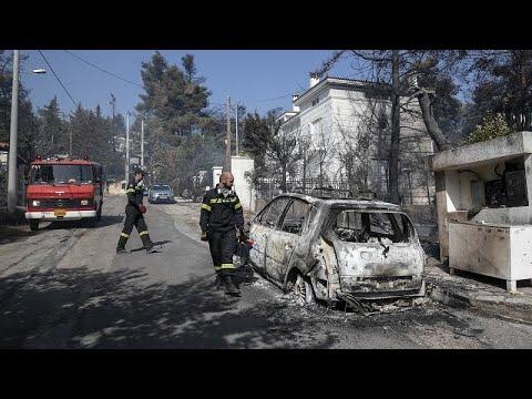 فيديو | حريق يهدد منازل وتجمعات سكنية في ضواحي أثينا  - نشر قبل 2 ساعة