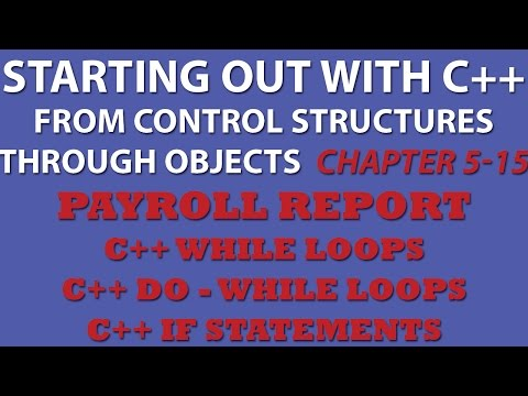 C++ Programming Challenge 5-15: Payroll Report - C++ While loops, Do while loops, If statements
