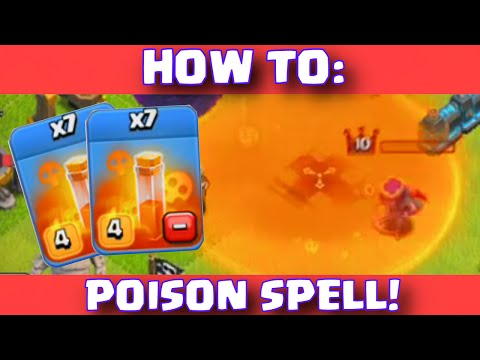 Clash Of Clans POISON SPELL STRATEGY | How To Use New Poison Dark Spell