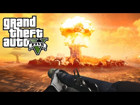 EXPLOSION NUCLEAIRE DANS GTA 5 ! Mod Funny moment