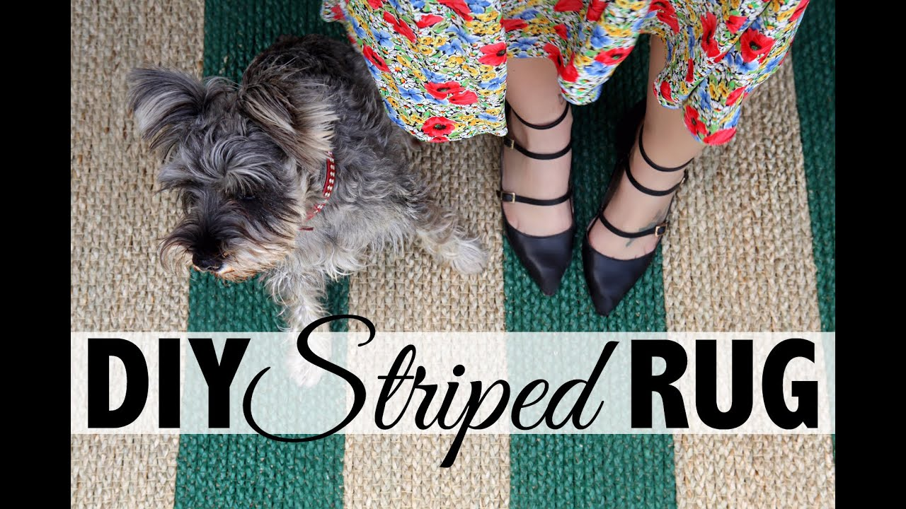 DIY Striped Rug   Home Decor: Ikea Hack