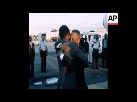 SYND 7 7 78 PRESIDENT CABRAL OF GUINEA-BISSAU ARRIVES IN MAPUTO