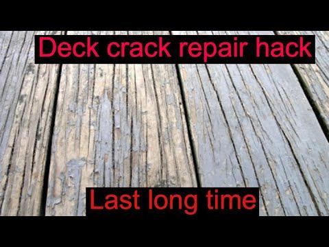 Deck Crack Repair Hack