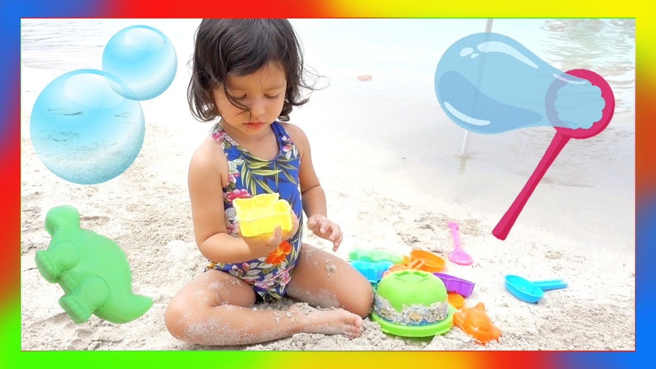 Super FUN Day At The BEACH Bubbles And Beach TOYS REVIEW Fun Outdoor WATER Activities For Kids