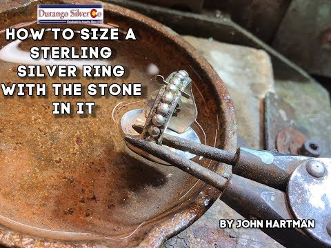How to size a sterling silver ring with the stone in it