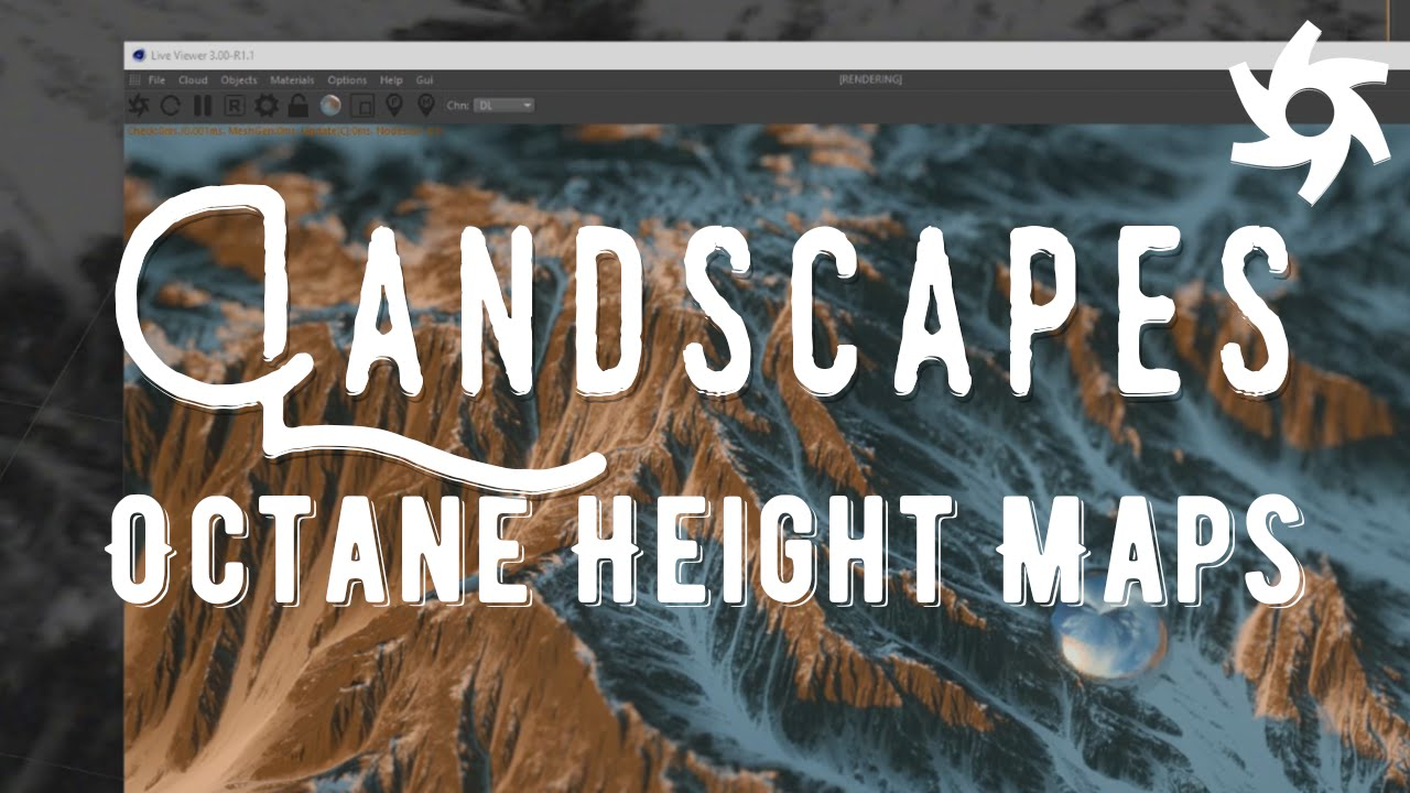 Height map landscapes in cinema 4d octane tutorial youtube gumiabroncs Choice Image