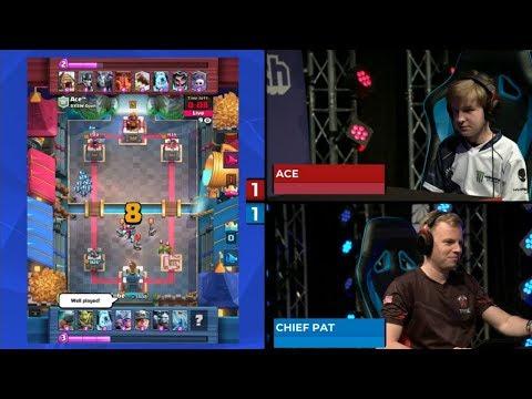 CHIEF PAT VS ACE | Clash Royale Super Magical Open Play 2018