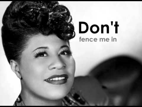 ELLA FITZGERALD - Don't Fence Me In (lyrics)