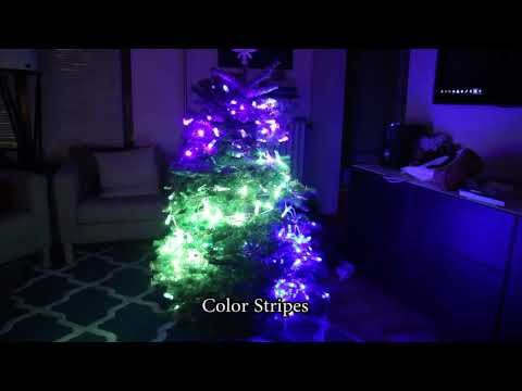 Spatially-Mapped Christmas Lights
