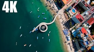 Puerto Vallarta desde el aire - 4K