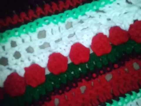 Crochet A Christmas Afghan Youtube
