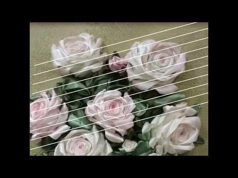 Вышивка лентами, мои розы