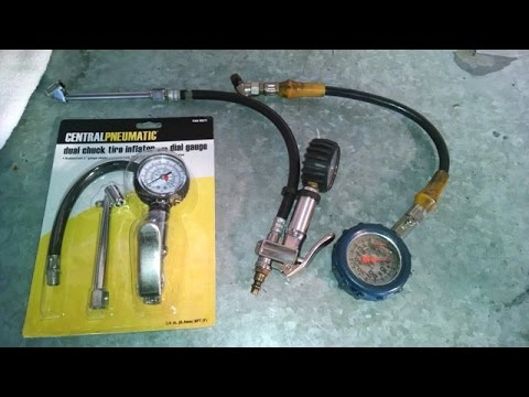 Tools air pressure gauge and inflator by froggy