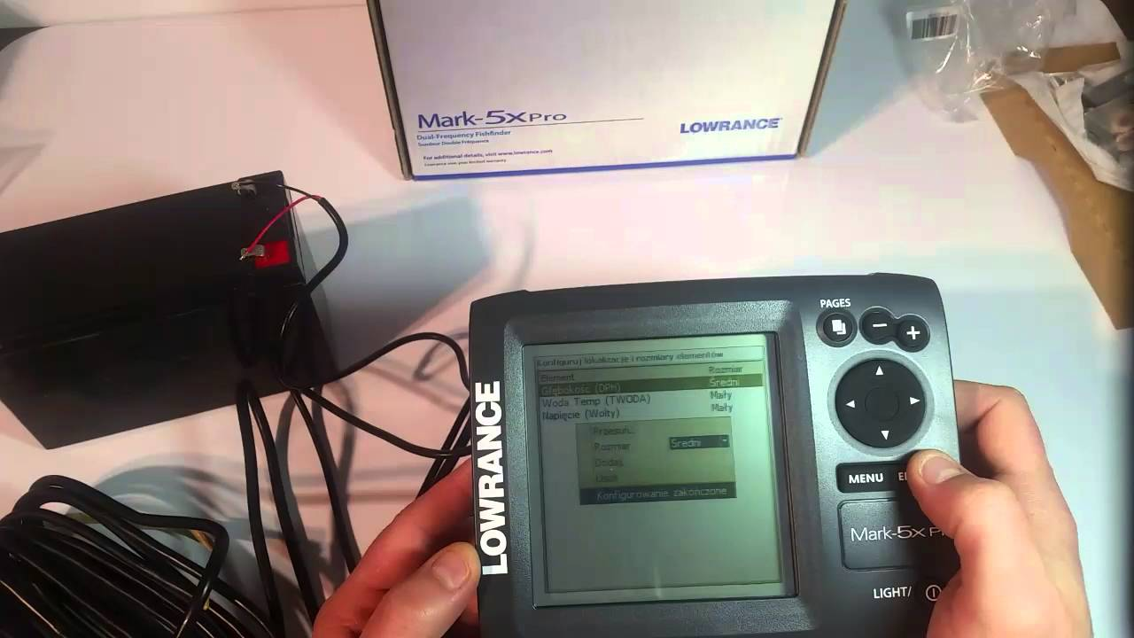 Эхолот Lowrance Mark 5xPro - YouTube