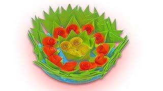 DIY Flower vase craft   How to make flower vase with paper flowers at home