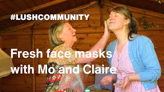 How to make Fresh Face Masks | At home with Mo & Claire Constantine