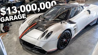 13 MILLION CAR GARAGE, PAGANI, CHIRON, LA FERRARI, 3 URUS BEHIND THE SCENES POLICE SHOW UP.