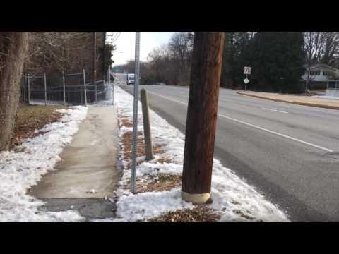 Scene of pedestrian death in Camp Hill