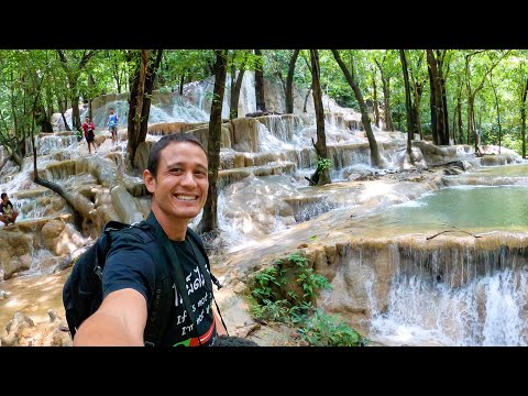 Thailand's Natural WATERFALL PLAYGROUND!! Swimming + Lunch in Satun, Thailand!