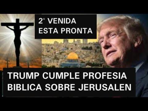 DONALD TRUMP ADELANTA LA VENIDA DEL MESIAS JESUCRISTO EN JERUSALEN