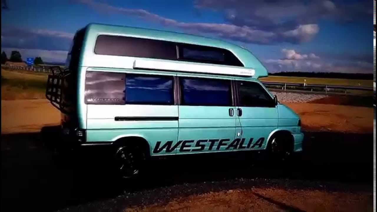 vw westfalia exclusive california t4 transporter camper van youtube. Black Bedroom Furniture Sets. Home Design Ideas