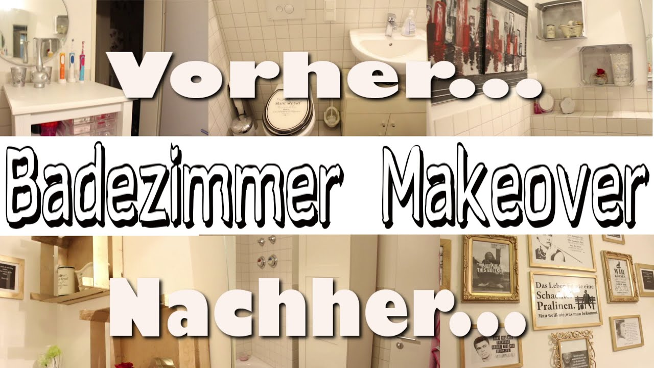 badezimmer makeover aus alt mach neu diy youtube. Black Bedroom Furniture Sets. Home Design Ideas
