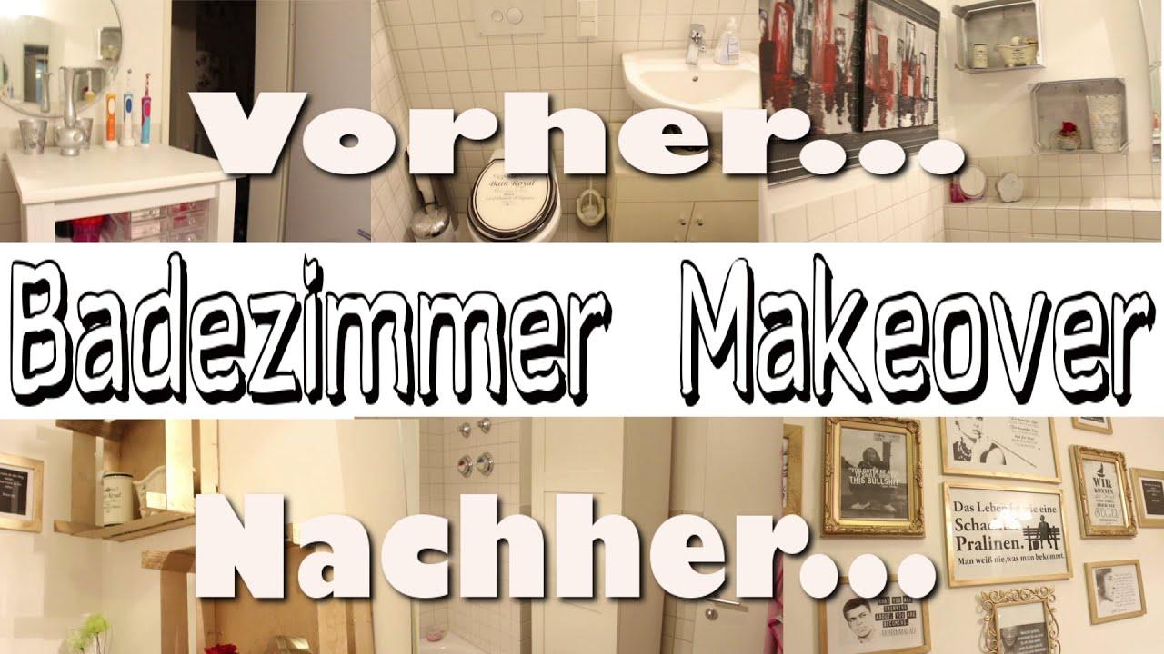 Badezimmer Makeover - aus alt mach neu - DIY - YouTube