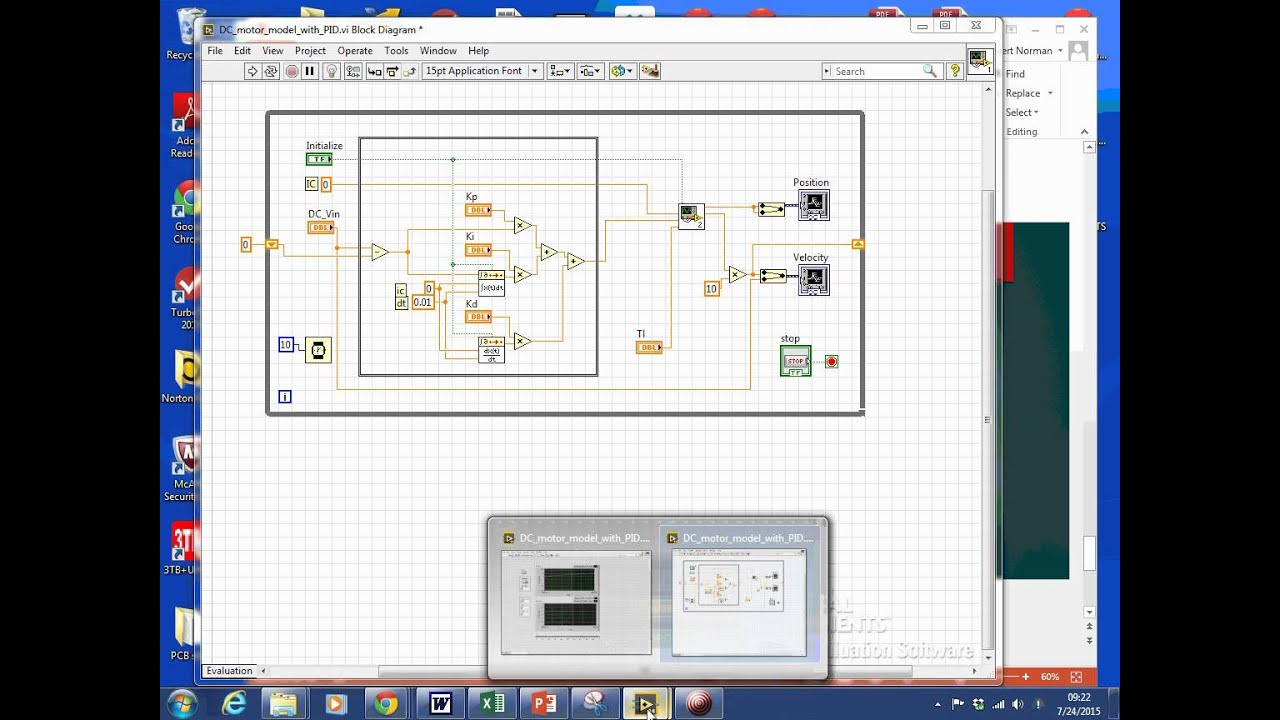 Labview Motor Modeling And Closed Loop Pid Part 4 Of 3 Supplemental P Id Block Diagram