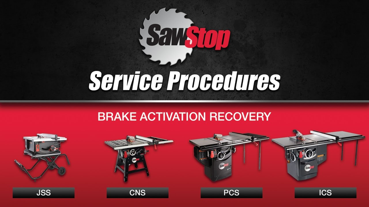 Sawstop Service Tip Recovering An Activated Brake Youtube