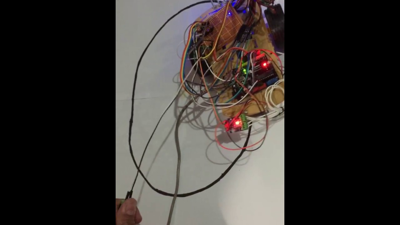 Line Follower Ultrasonic Sensor Youtube Simple Following Robot Without Microcontroller Make Robots In