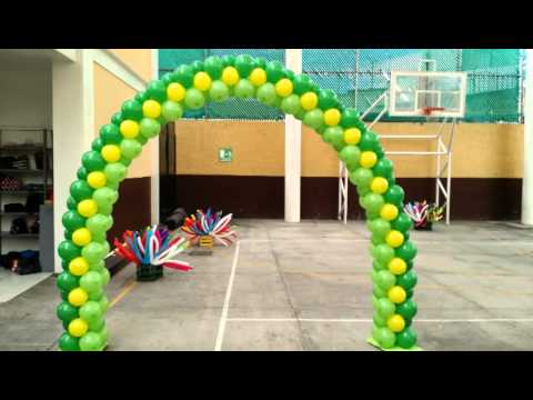 Decoraci n con globos para primavera 2015 youtube - Decoracion de primavera ...